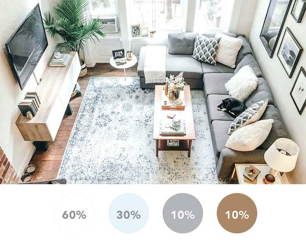Phối màu nội thất