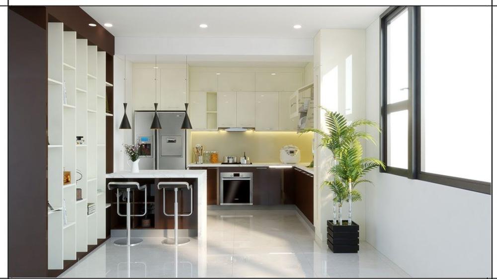 Phòng bếp châu âu đảo bếp