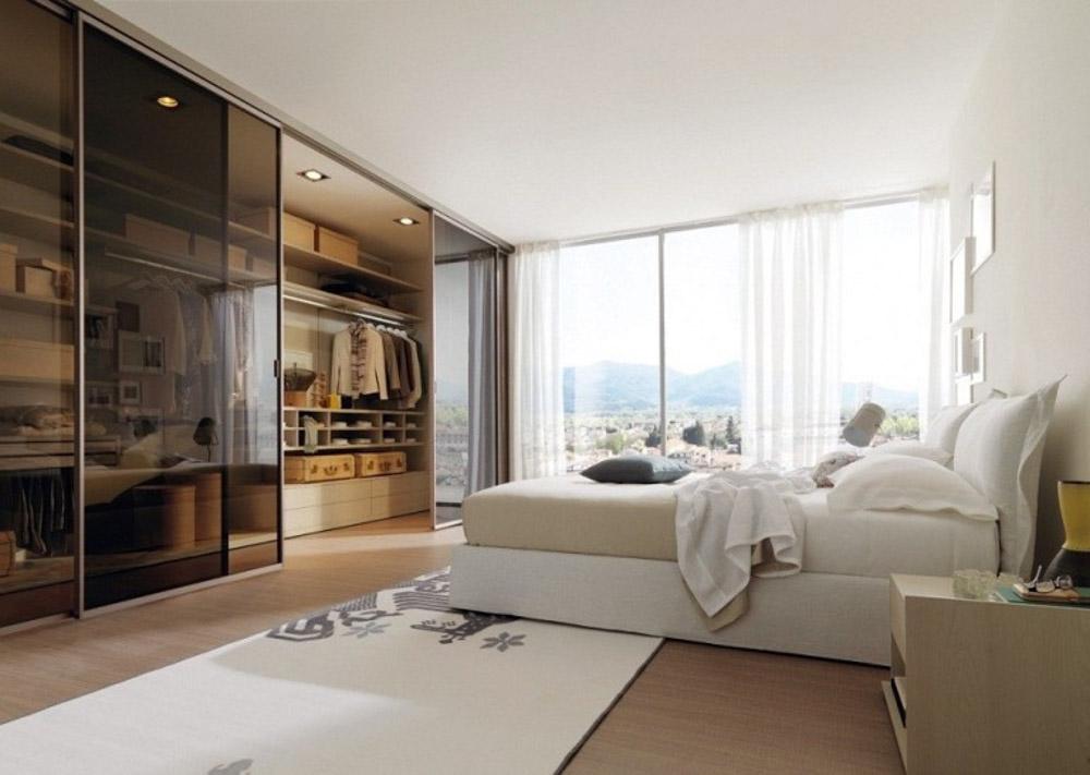 Phòng ngủ kết hợp phòng thay đồ có cửa trượt