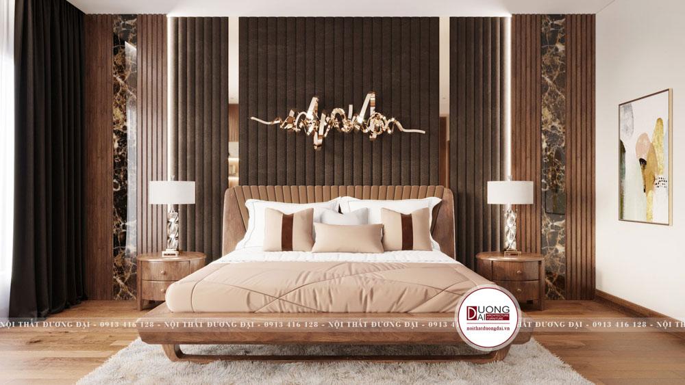 phòng ngủ master gỗ óc chó