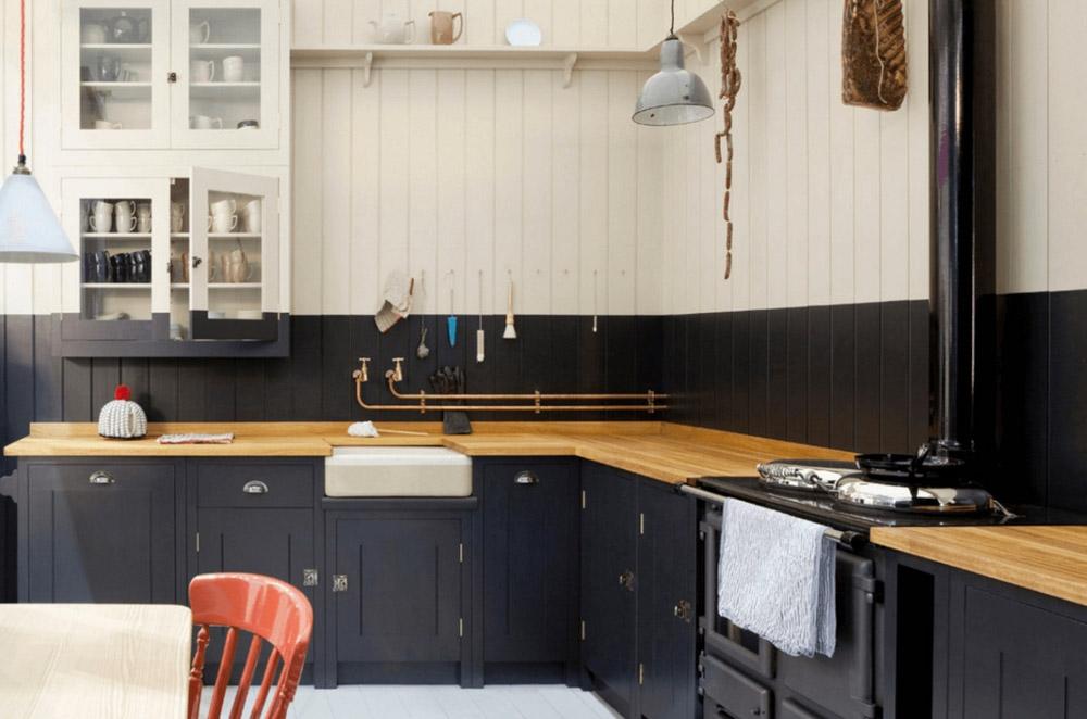 Thiết kế nhà bếp theo phong cách cổ điển Anh