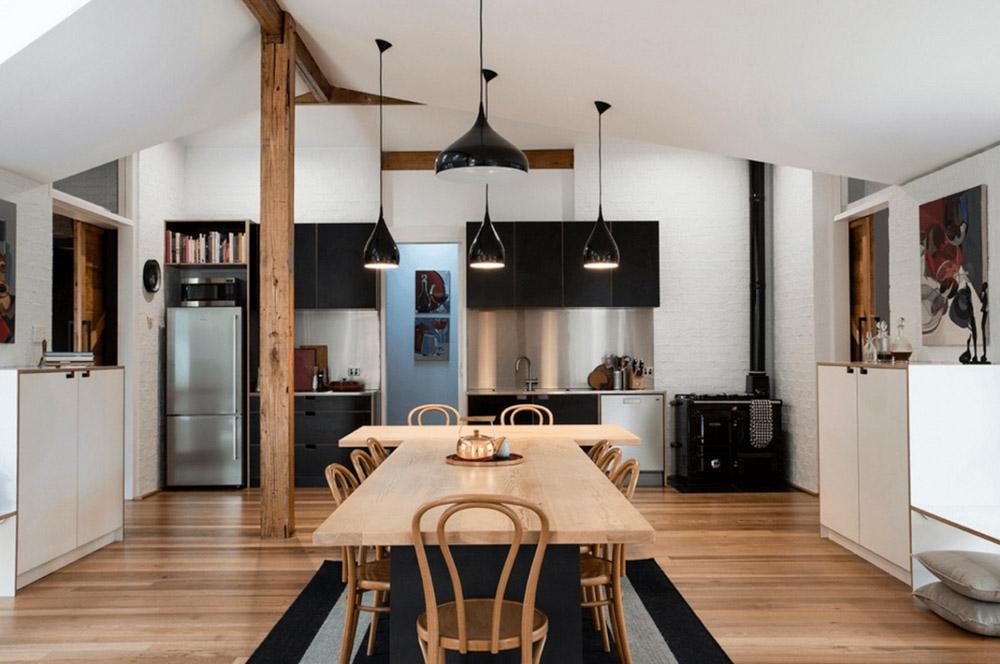 Tủ bếp màu đen scandivan