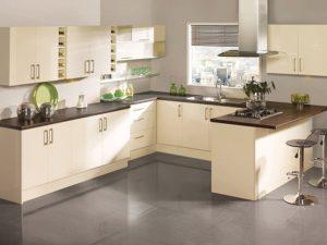 Tủ bếp màu kem là một sản phẩm được nhiều khách hàng tin tưởng lựa chọn
