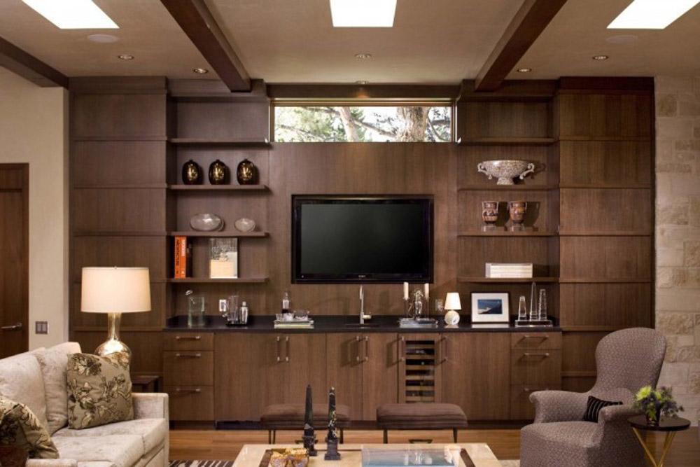 Với các căn nhà có nhiều hốc tường, kệ tủ sẽ giúp tiết kiệm được diện tích nội thất.