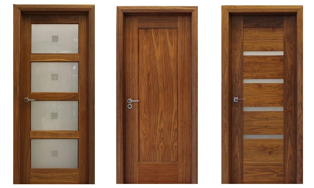 Gỗ óc chó được ứng dụng làm nhiều loại cửa khác nhau