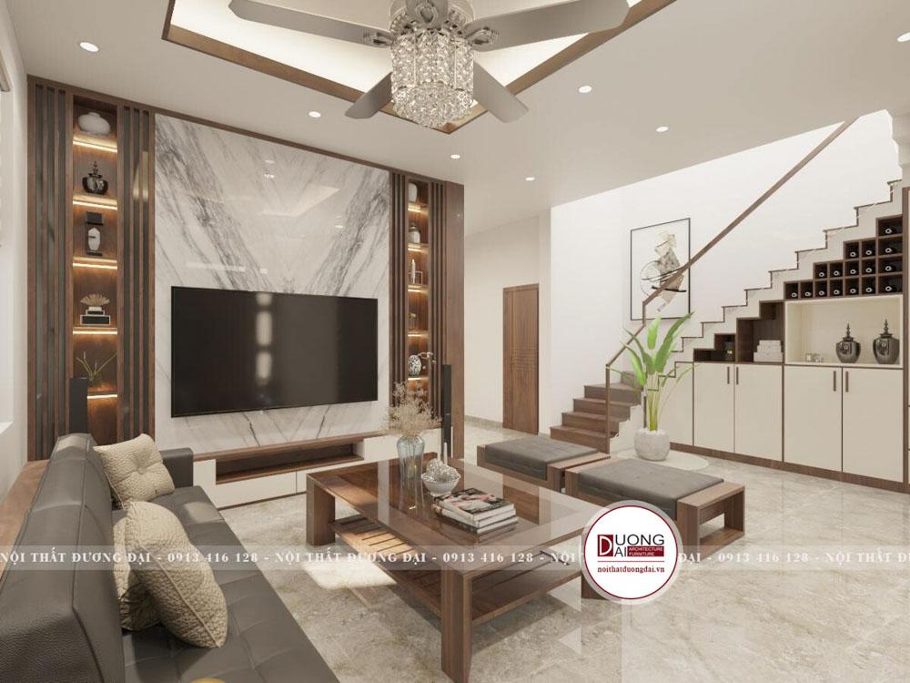 Với các căn nhà có nội thất đơn giản, ít màu sắc thì nó sẽ dựa theo phong cách hiện đại.