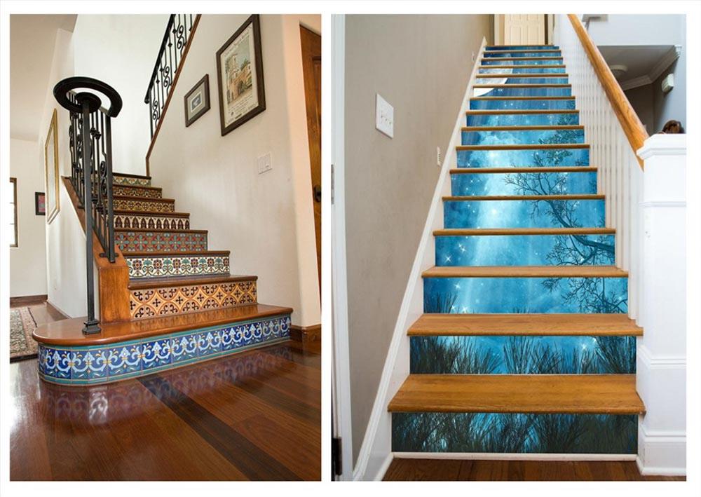 Phong cách cải tạo cầu thang nhà ống độc đáo