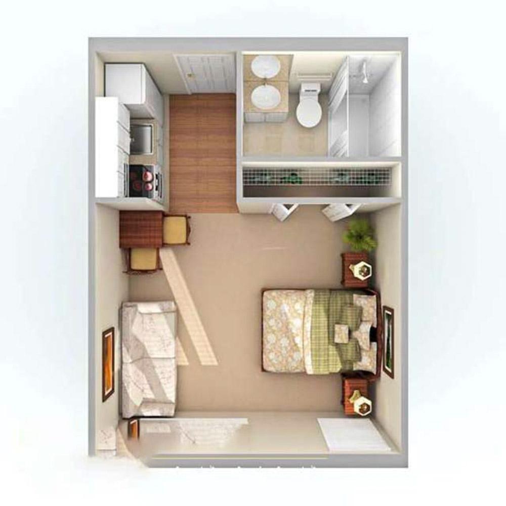 Phối cảnh thiết kế không gian cải tạo nhà 20m2