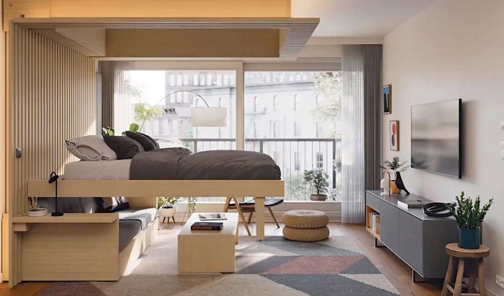 Cải tạo phòng khách thành phòng ngủ
