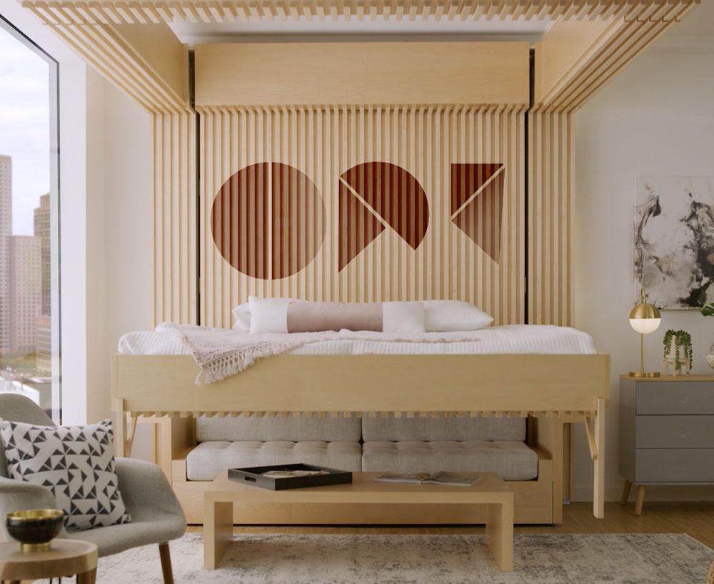 Căn phòng nhỏ gọn thông minh với thiết kế cực kỳ độc đáo