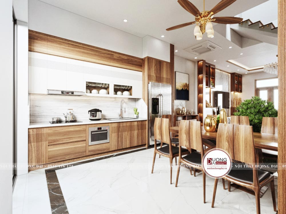Phòng bếp là nơi có chứa rất nhiều các dụng cụ nấu nướng và là nơi xuất hiện của yếu tố nước lửa xen kẽ