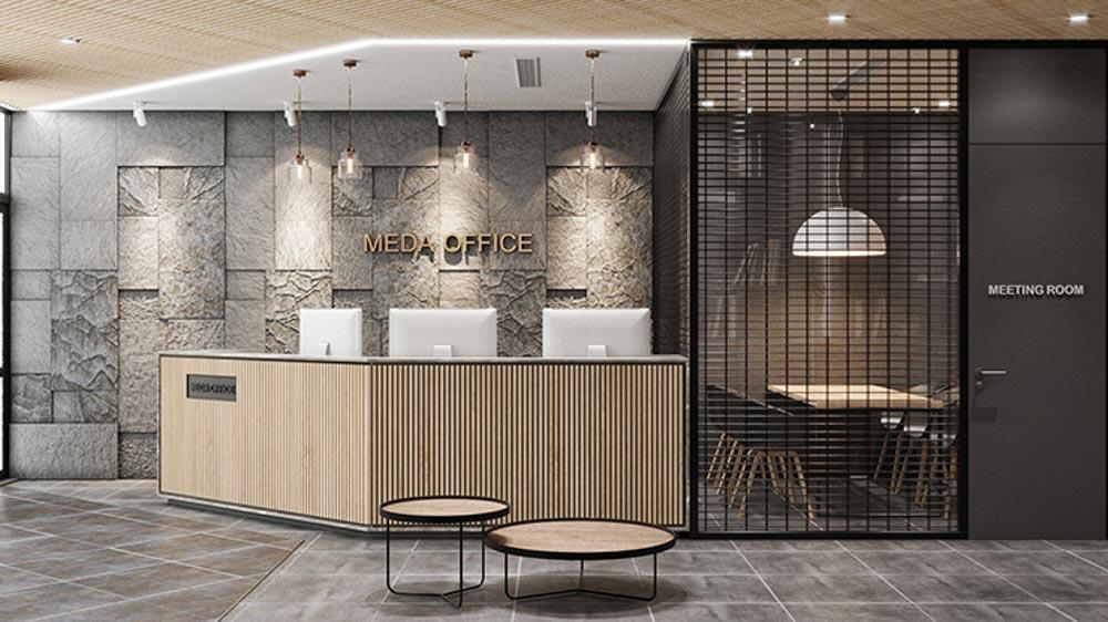 Quầy lễ tân là khu vực đầu tiên sẽ gây được ấn tượng với khách hàng khi đến thăm văn phòng của bạn.