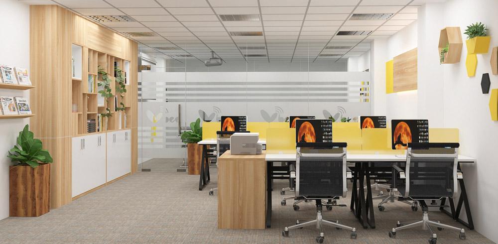 Thi công nội thất văn phòng sẽ giúp nâng cao được không gian làm việc