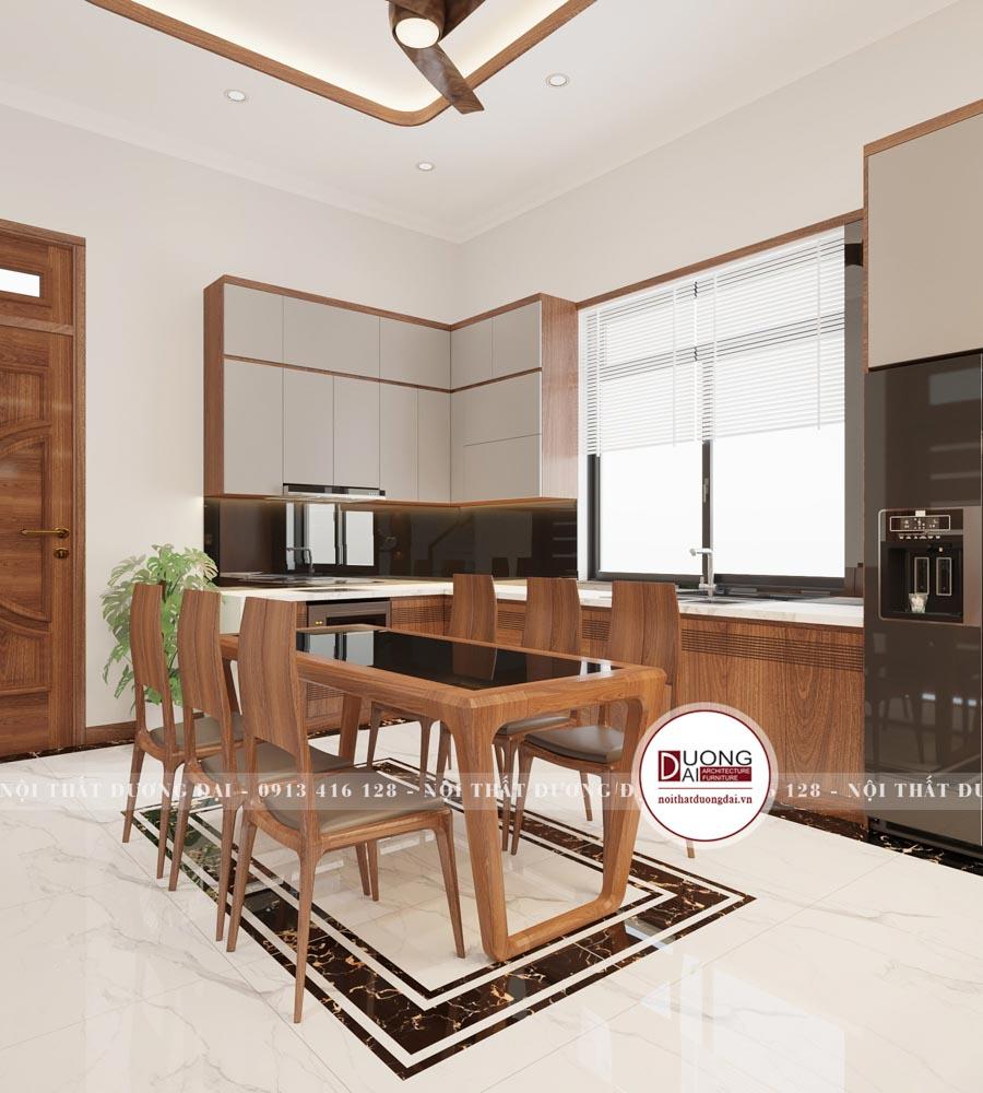 Không gian phòng bếp không có quá nhiều sự nổi bật nhưng nó lại cực kỳ hiện đại và sang trọng.