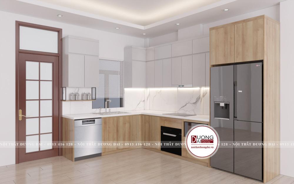 Thiết kế nội thất chung cư gỗ công nghiệp