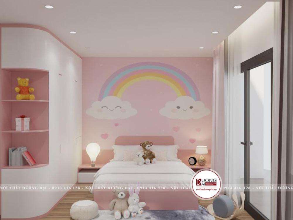 Toàn bộ món đồ nội thất bên trong căn phòng đều được bày điện theo sở thích của bé