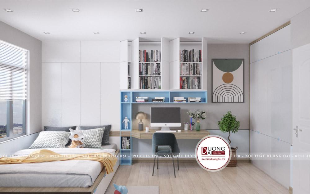 Thiết kế phòng ngủ cho bé trai với gam màu tươi mát