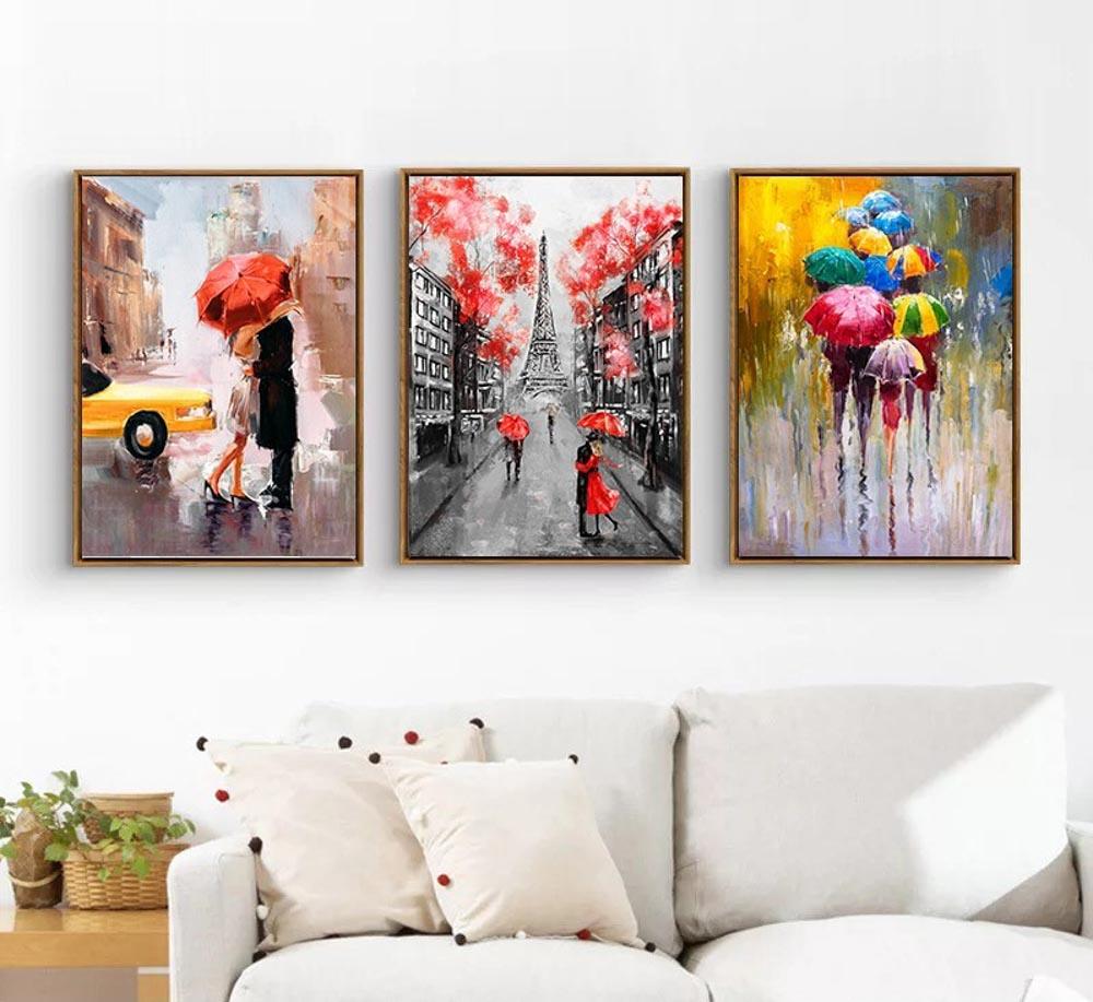 Xu hướng treo tranh hiện đại từ 3 đến 7 bức hiện nay đang được rất nhiều người yêu thích