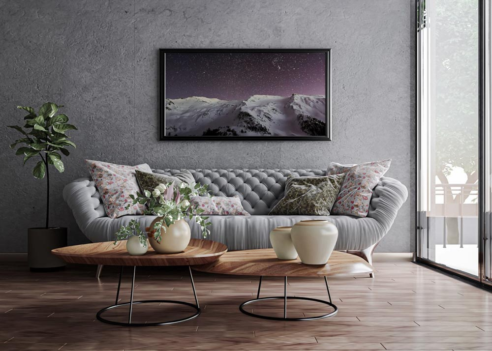 Trang trí phòng khách bằng giấy dán tường theo phong cách trang trí