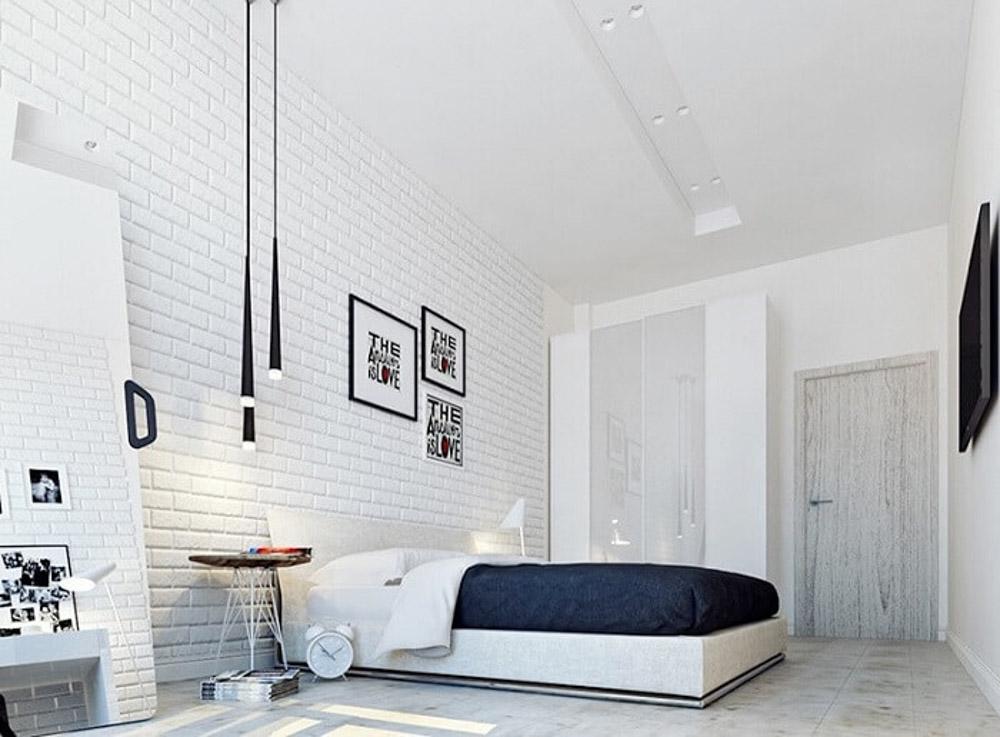 Trang trí phòng ngủ bằng xốp dán tường