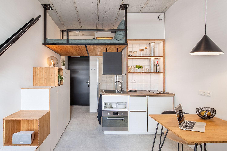 Với một căn nhà 18m2 thì bạn không nên lựa chọn các món đồ nội thất quá cồng kềnh và phức tạp