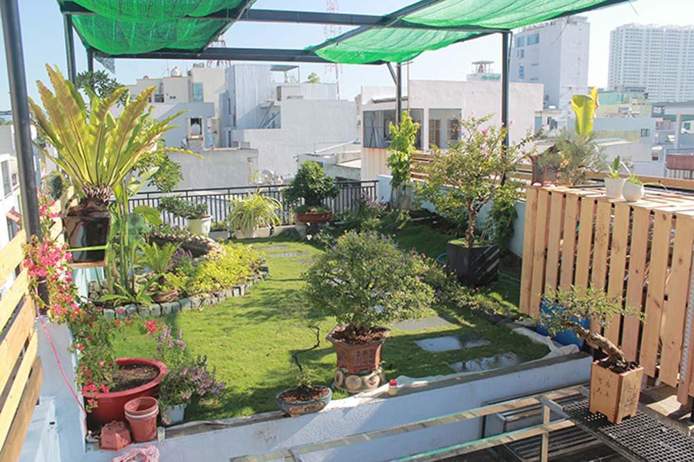 Thiết kế một vườn cây xanh trên sân thượng