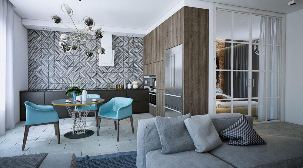 Dựa vào phong cách thiết kế và không gian của căn bếp để chọn giấy dán tường