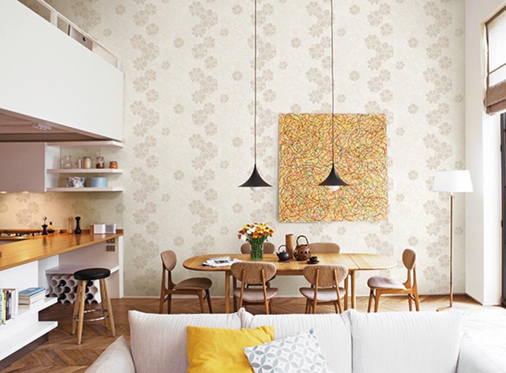 Gam màu nhã nhặn và hợp với không gian nội thất