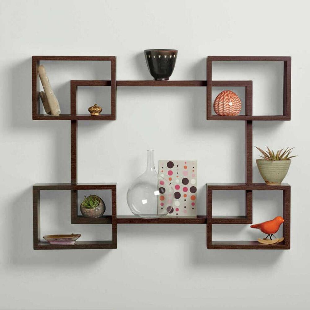 trang trí ô vuông trên tường phòng khách