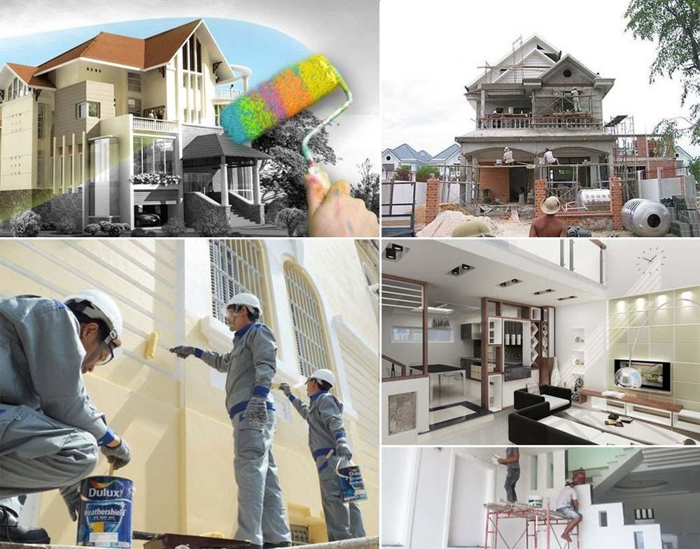 quy trình sửa chữa nhà