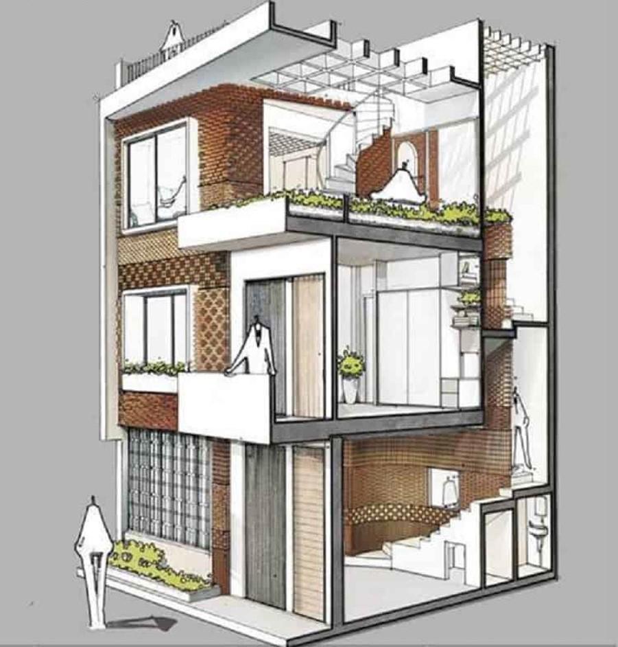 Sửa nhà 2 tầng thành 3 tầng