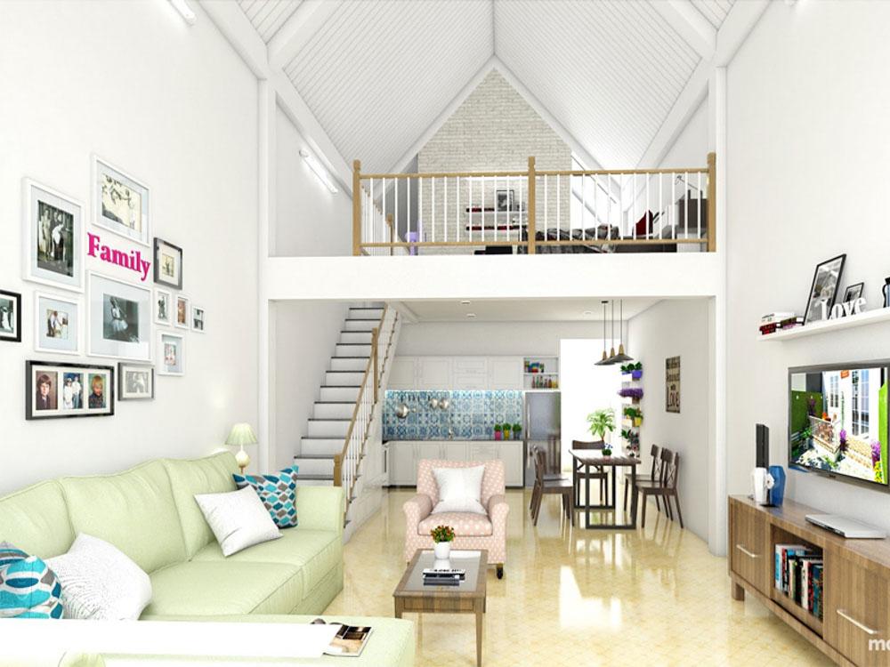 ầu thang là một trong những điểm nhấn khác biệt của ngôi nhà