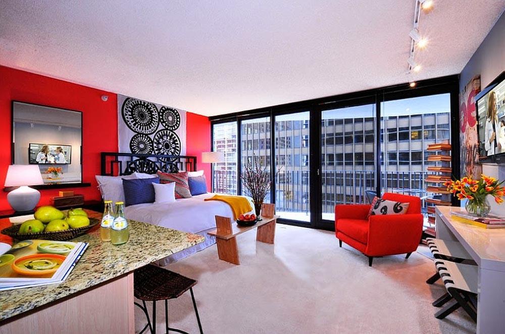 Gam màu đỏ là gam màu nổi bật giúp cân bằng âm dương trong căn nhà