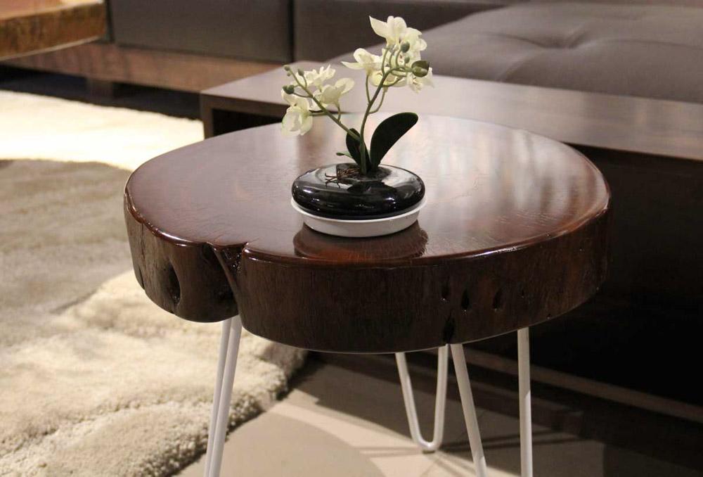 Bàn trà Sofa decor làm bằng những khúc gỗ