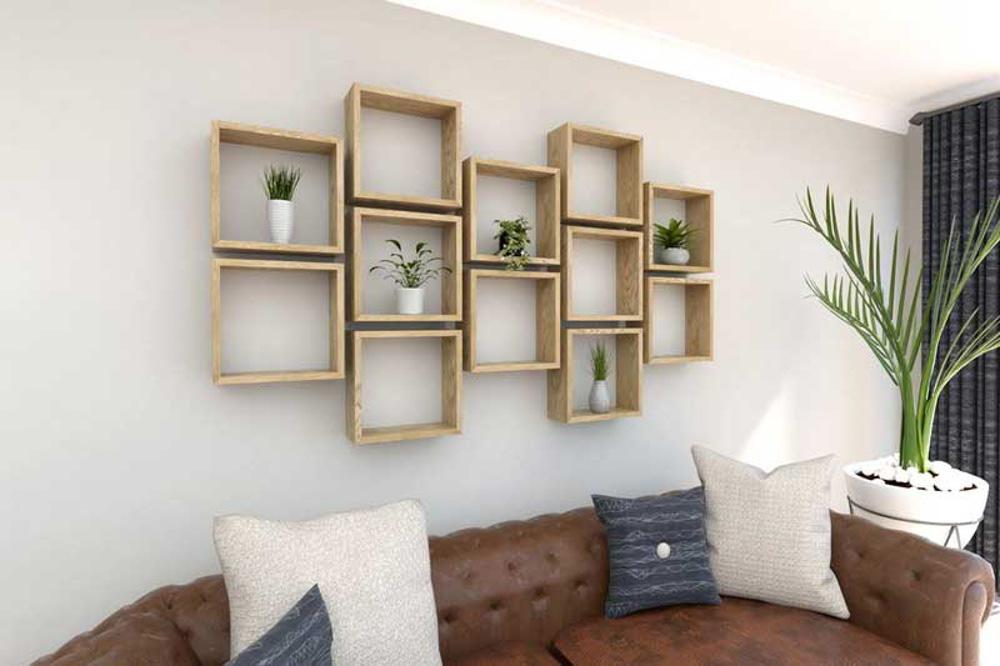 Sản phẩm ô trang trí phòng khách bằng gỗ