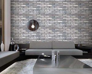 Trang trí phòng khách bằng xốp dán tường