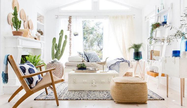 Cây xanh với không gian mở trong phòng khách