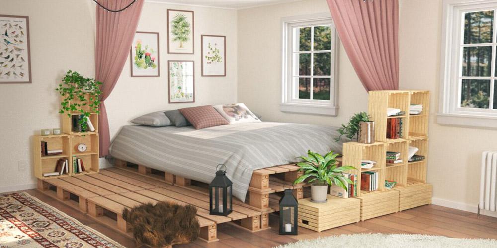 Phương pháp trang trí phòng ngủ vintage bằng đồ gỗ tái chế