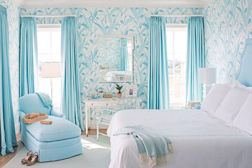 Với gam màu xanh nó sẽ mang đến cảm giác dịu nhẹ giúp cho tinh thần thoải mái.