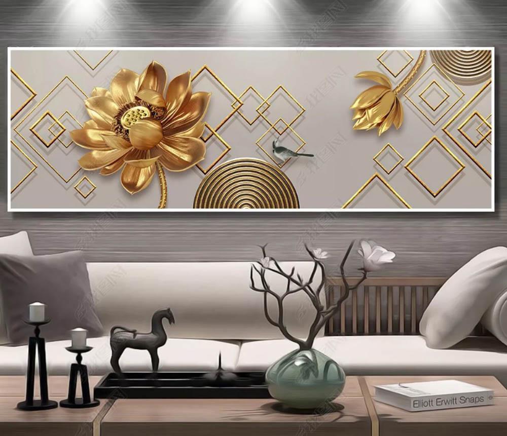 trang trí tranh phòng khách