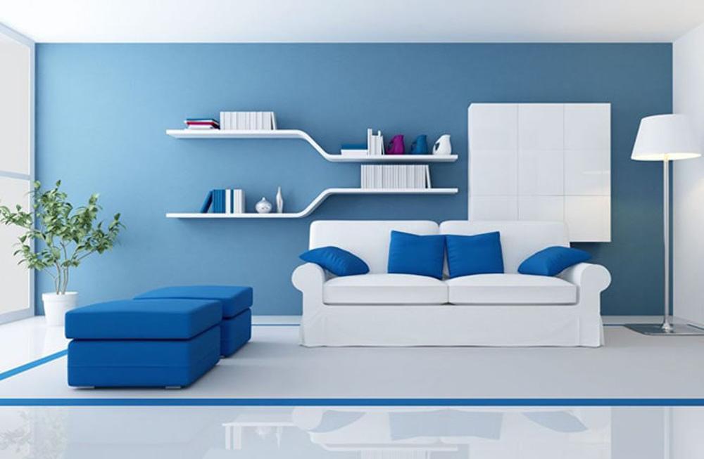 Lựa chọn màu sắc cho sàn, tường và trần nên lựa chọn màu từ đậm cho đến nhạt.