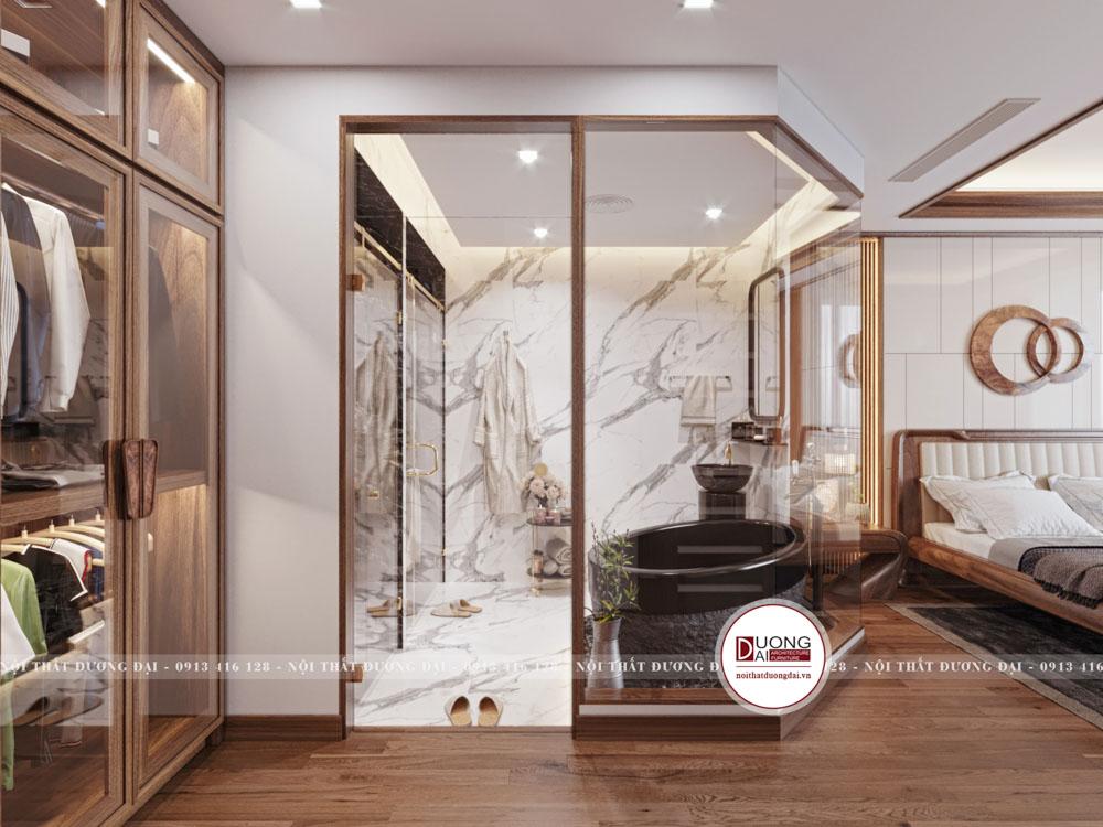 Không gian phòng tắm hiện đại và tiện nghi