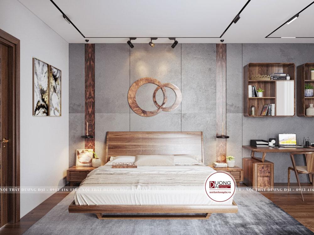 Giường ngủ gỗ óc chó cao cấp và hiện đại