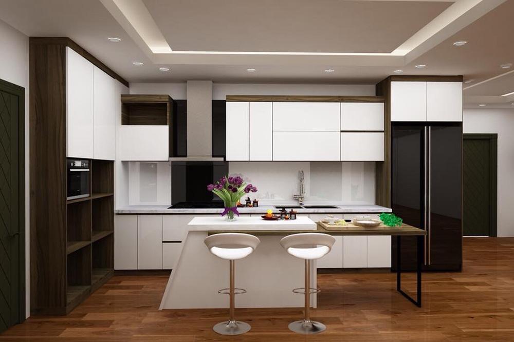 Tủ bếp gỗ công nghiệp cực kỳ đơn giản và dễ làm