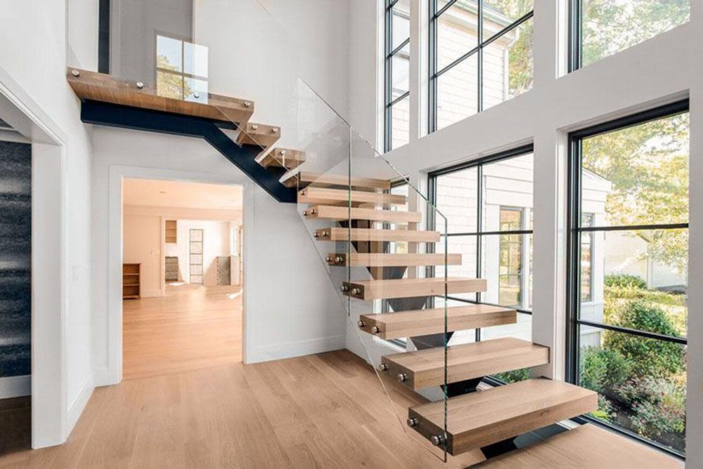 cầu thang quan trọng và nó đóng vai trò như là xương sống.
