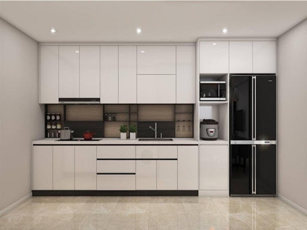 Dù ở bất kỳ một thời đại nào thì tủ bếp màu trắng luôn nhận được sự yêu thích của các gia đình