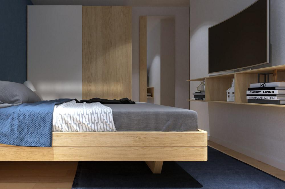 Gam màu nâu phù hợp với nội thất của căn phòng ngủ