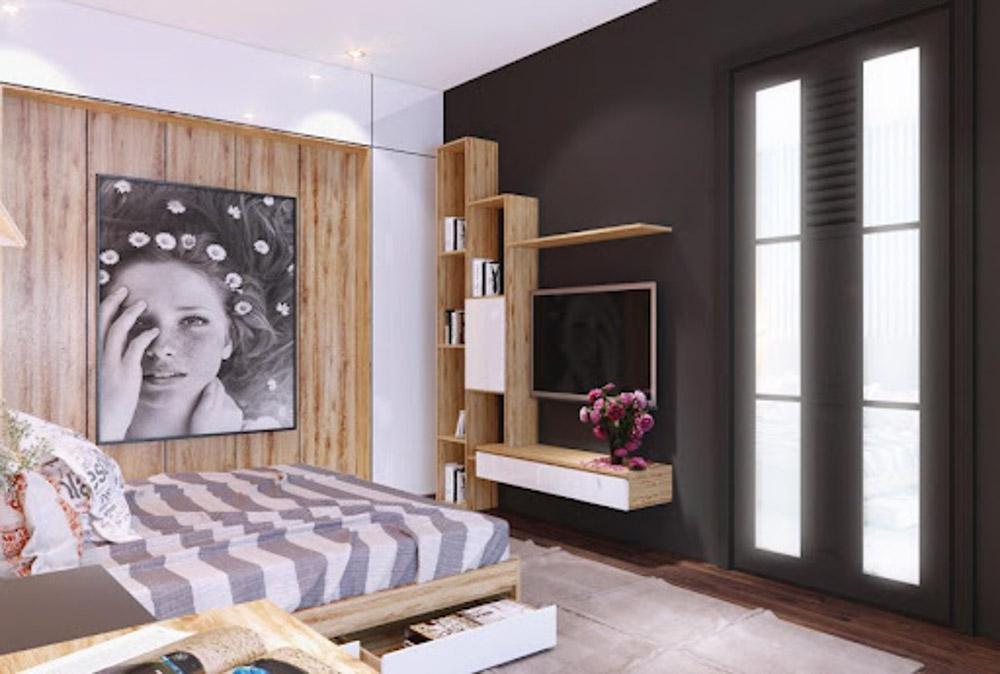 Khi thiết kế nội thất dành cho người mệnh Thổ thì các gia chủ nên chọn giường có tông màu chủ đạo là vàng, nâu
