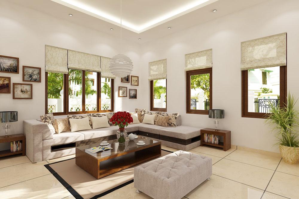 Để tài lộc luôn được sum vầy thì các kiến trúc sư đã khéo léo trong quá trình trang trí trần nhà