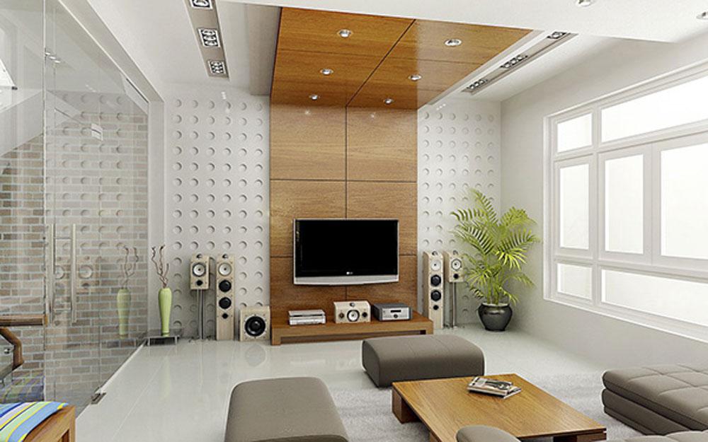 Cây xanh không chỉ làm đẹp cho không gian căn phòng mà còn giúp cho không khí được trong làng